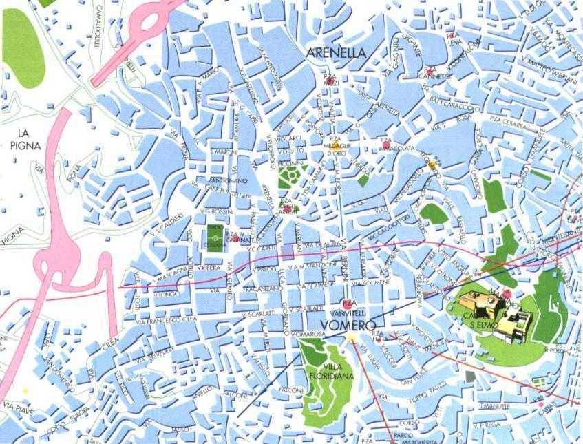 Cartina Napoli.Cartina Del Vomero