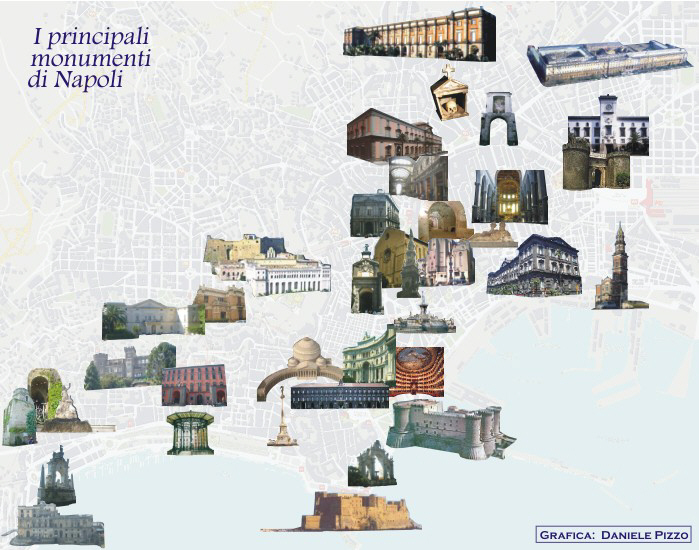 Cartina Monumenti Napoli.The Main Monuments Of Naples