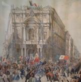 Garibaldi acclamato dal popolo napoletano in Palazzo Doria d'Angri
