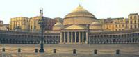 La basilica di San Francesco di Paola, a Piazza Plebiscito